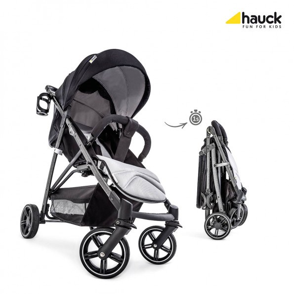 Hauck Rapid 4S - Caviar/Silver Sittvagn