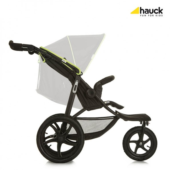 Hauck Runner - Black/Neon Yellow Sittvagn