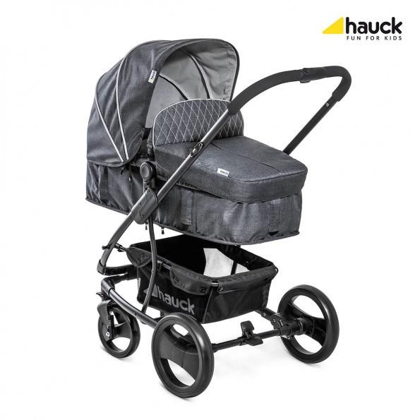 Hauck Pacific 4 Shop N Drive Set - Melange Charcoal Kombivagn
