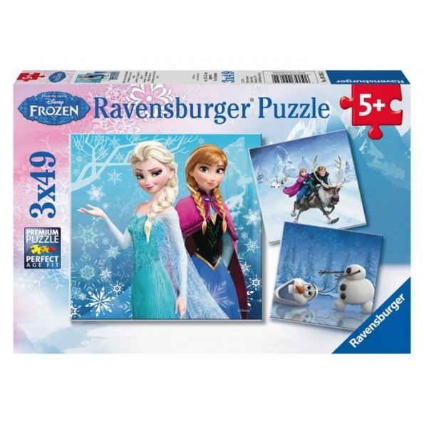 Ravensburger Frost Winter Adventures Puzzle - 3x49 stycken