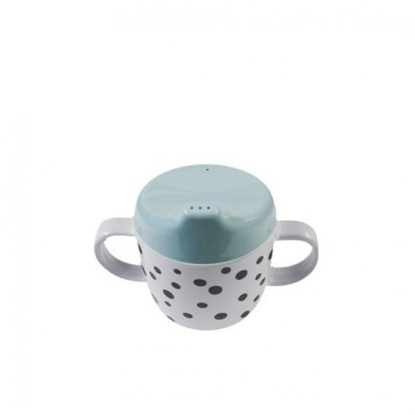 DONE BY DEER - Dots Cup med drickspip - Light Petroleum