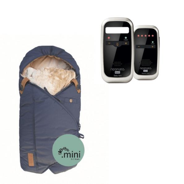 Sleepbag Mini Åkpåse Midnight Petrol + Neonate 4600 Babyvakt