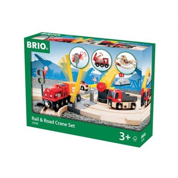 BRIO Tågbana Väg och Kran
