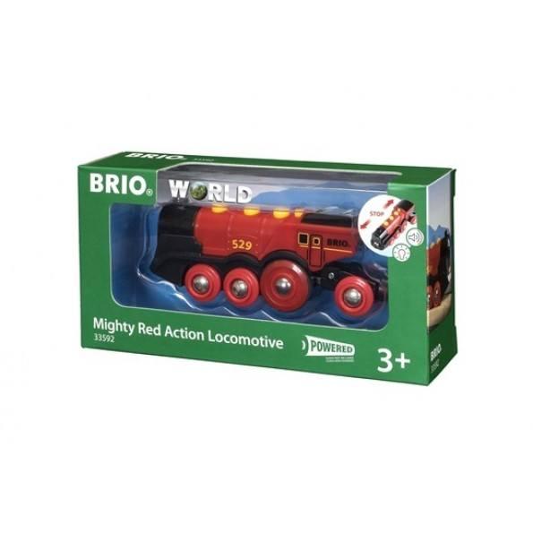 BRIO Lokomotiv Batteridrivet - Röd - 33592