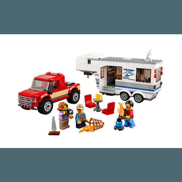 LEGO City Pickup och Husvagn