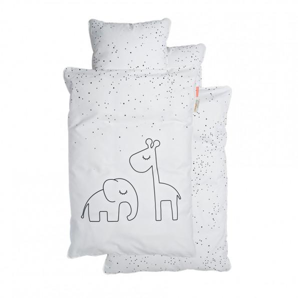 Done by Deer Juniorsängkläder, Dreamy dots,vit