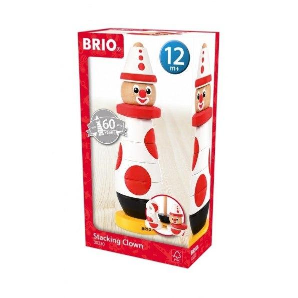 BRIO Stapeclown - Röd & Vit