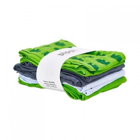 Pippi Muslinfilt 8-pack - Green