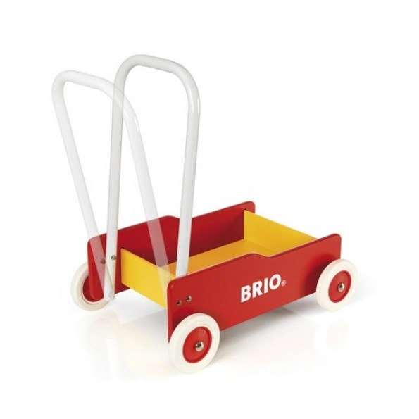 BRIO Lära-Gå Vagn - Röd - 31350