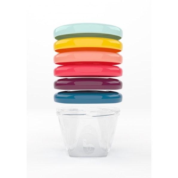 Babymoov Matlådor 180ml. 6-pack - Multicolor