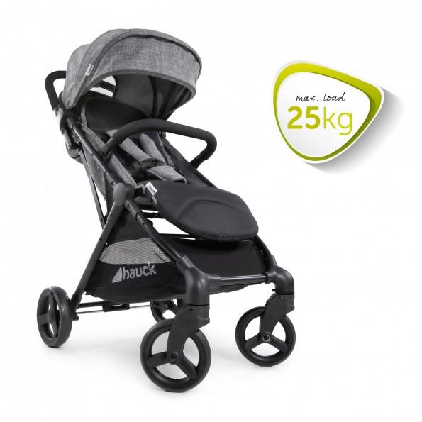 HAUCK Solig barnvagn - Melangegrå