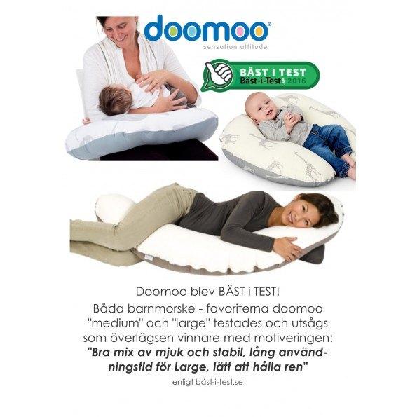 Doomoo Amningskudde Stor - Grå/Vit