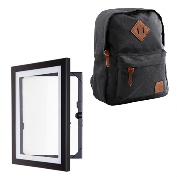 Davinci A4 svart + Heybasic Mini Basic ryggsäck, svart