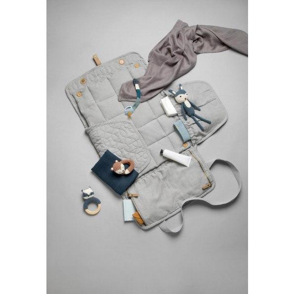 Sebra quiltad skötväska- elephant grey