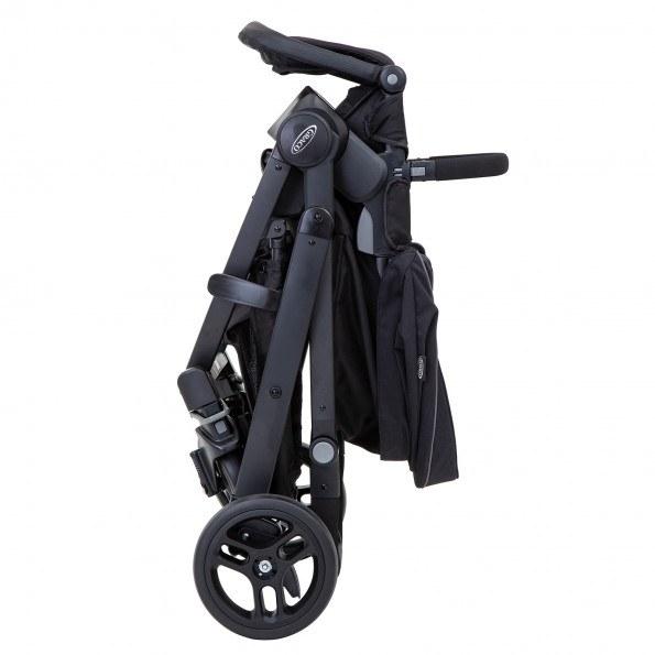 Graco EVO Trio kombivagn m. bilbarnstol och lift - Black/Grey