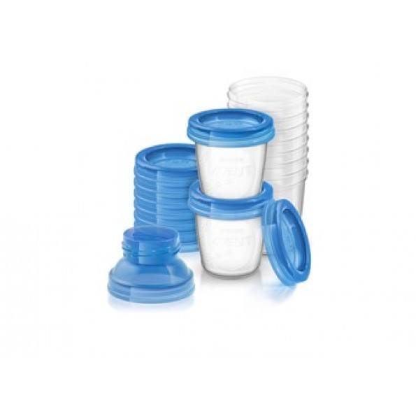 Philips Avent 10-pack 180ml Förvaringsmugg för Bröstmjölk