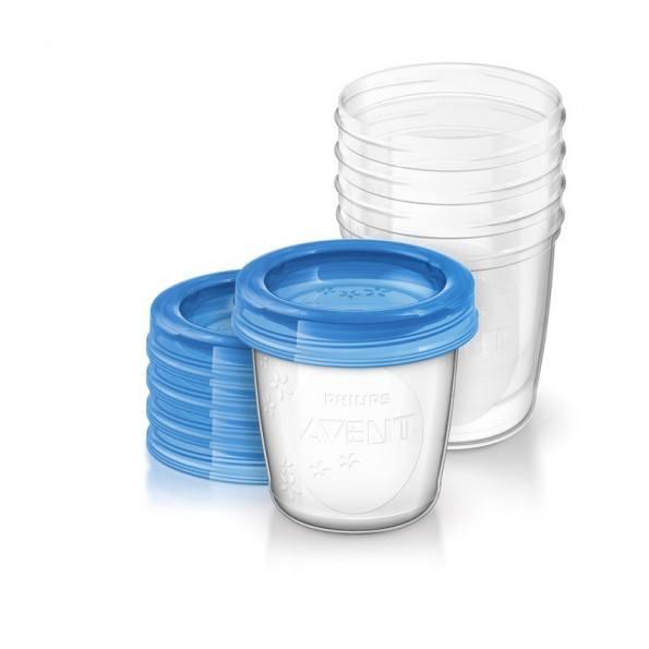 Philips Avent 5-pack 180ml Förvaringsmugg för Bröstmjölk