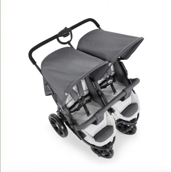 Hauck Roadster Duo SLX syskonvagn - Silver
