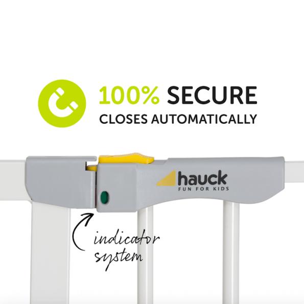 Hauck Autoclose N Stop säkerhetsgrind - vit