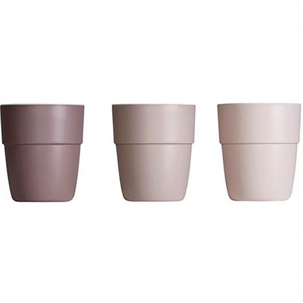 DONE BY DEER Yummy Mini Mugg - 3-pack - Bourgogne / rosa / pulver