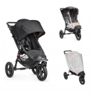 Baby Jogger City Elite Single Sittvagn, Regnskydd & Insektsnät - Svart