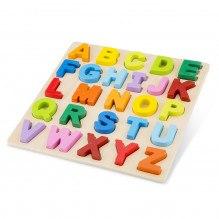 NEW CLASSIC TOYS Alfabetet Puzzle +24 månader - regnbågens färger