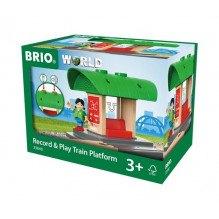 BRIO Tågstation m. Ljudinspelare - 33840