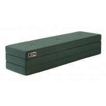 BY KLIPKLAP KK 3 fold madrass - mörkgrön w gröna knappar