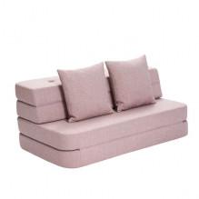 BY KLIPKLAP KK 3 Vik soffa - mjuk ros med rosa knappar