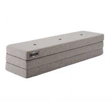 BY KLIPKLAP KK 3 vik madrass - grå med grå knappar