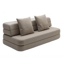 By KlipKlap 3-faldig soffa XL - Beige med sandknapp