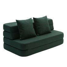By KlipKlap 3-faldig soffa XL - Grön med grön knapp