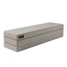 By KlipKlap 3-faldig XL madrass - Beige med sandknapp