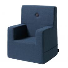 BY KLIPKLAP Barnstol XL - mörkblå med svart knapp