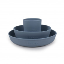 Filibabba matuppsättning av silikon - Pulverblått
