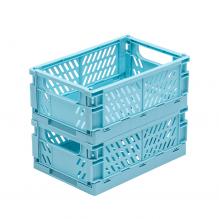 Tiny Republic 2 st. Vikbara lådor str. Medium - Ljusblå