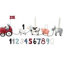 KIDS BY FRIISfödelsedagståg med gård, 11 figurer