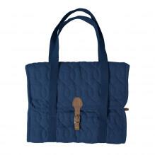Sebra quiltad skötväska - royal blue
