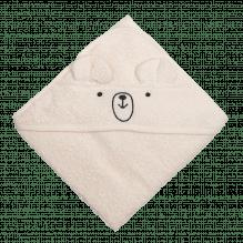 Tiny Republic handduk med huva, Charlie 70 x 70 cm – Offwhite