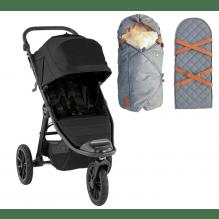 Baby Jogger City Elite 2 Jet + Sleepbag Åkpåse Grey