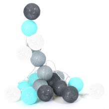 Tiny Republic Ljuskedja med 20 kulor- blå och grå