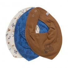 Pippi smæktørklæder 3-pak - Vallarta Blue