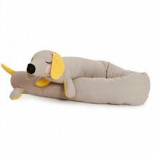 ROOMMATE Lazy Long Dog Spjälskydd - grå / gul