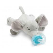 PHILIPS AVENT Snuggla elefanten med napp