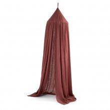 Sebra Nightfall Bed Sky - Burgundy Red