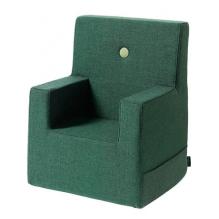 BY KLIPKLAP Barnstol XL - Mörkgrön w Grön knapp