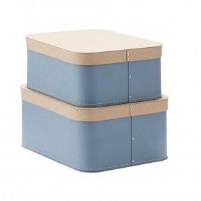 Kids Concept Förvaringsboxar 2st - Blå