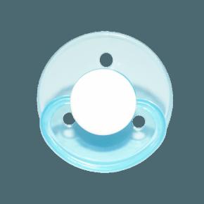 Mininor Rund Napp Silikon 0m+ 2-pack - Blå