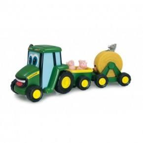John Deere Traktor Med Släp - Grön