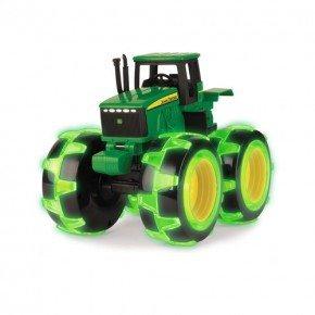 John Deere Traktor Med Ljus - Grön